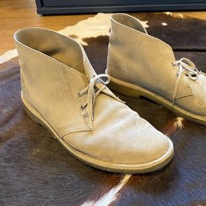 Leather Chukka Suede Shoes/Boots